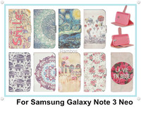 Cheap Mobile Phone Case Accessories Flip Leather Case Cover for Samsung Galaxy Note 3 Neo N7502 N7505