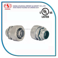 UL list zinc straight liquid tight flexible conduit connector