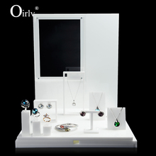 Oirlv Manufacturers Premier Imported Acrylic Ring Earring Gemstone Displays Holder Stand Custom White Jewelry Display