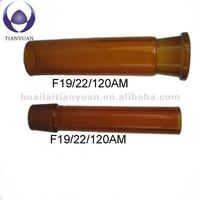 Amber color glass ground joint female