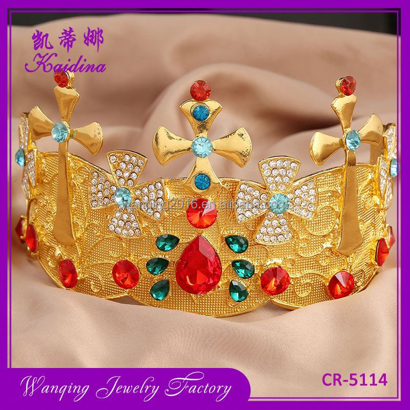 New coming gold china supplier child tiaras crowns
