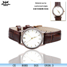 Italian charm type leather strap women leather watches brand quartz fancy wrist watch wholesale