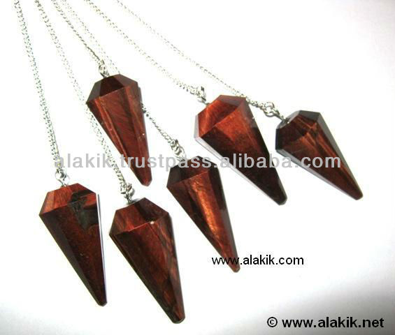Tiger Eye Pendulum : Metaphysical Crystals from INDIA