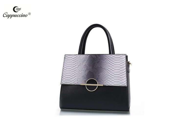 2018 SS Cappuccino stylish high quality bags women,Genuine Python Leather Classic Satchel Shoulder Hand Bag