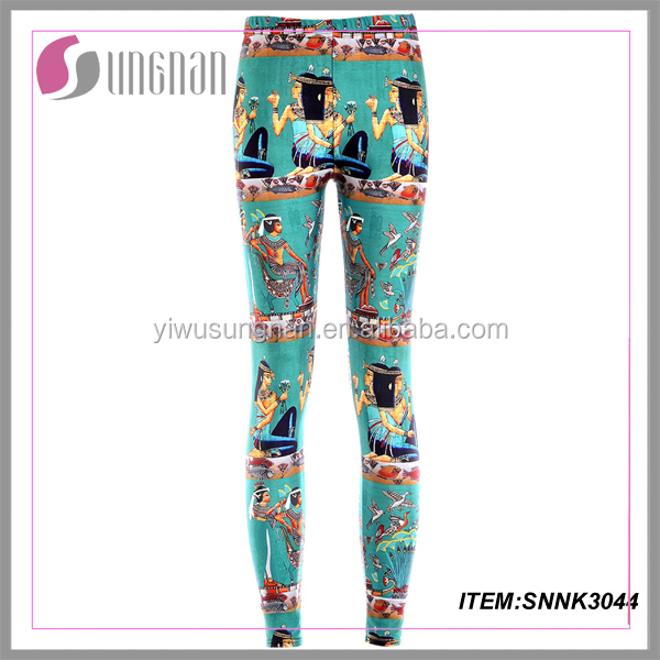 Ancient egyptian printed leggings for women