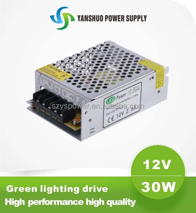 12v 30w led auto transformer 2.5a led driver power supply 30w led driver