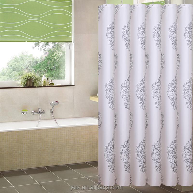 Elegant High Quality Polyester Fabric Shower Bathroom Curtain Buy Fabric Shower Bathroom