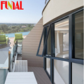 Australia standard cheap aluminum awning window with double glazed