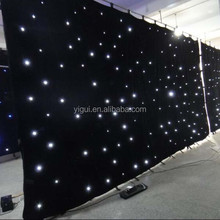Hot sale 4X6m led video cloth curtain for event/led star cloth