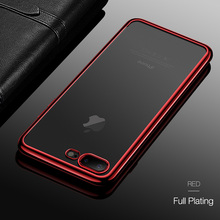 CAFELE Bulk Shockproof Sillicon Flexible Phone Case TPU Plating Design Phone Back Cover for iphone 7/7plus for iPhone X