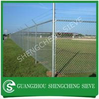 top quality used chain link fence for sale,steel construction chain link fence