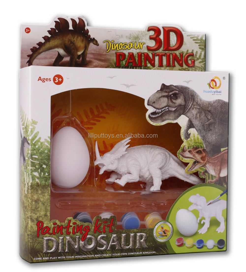 Fancy Dinosaur figurine toy 3D Painting Kit for kids