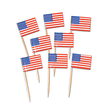 American alphabet diy wooden toothpciks flags