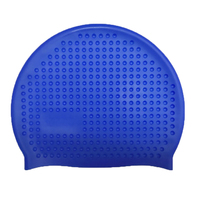 Material best silicone custom high stretchy Bubble soft swimming cap