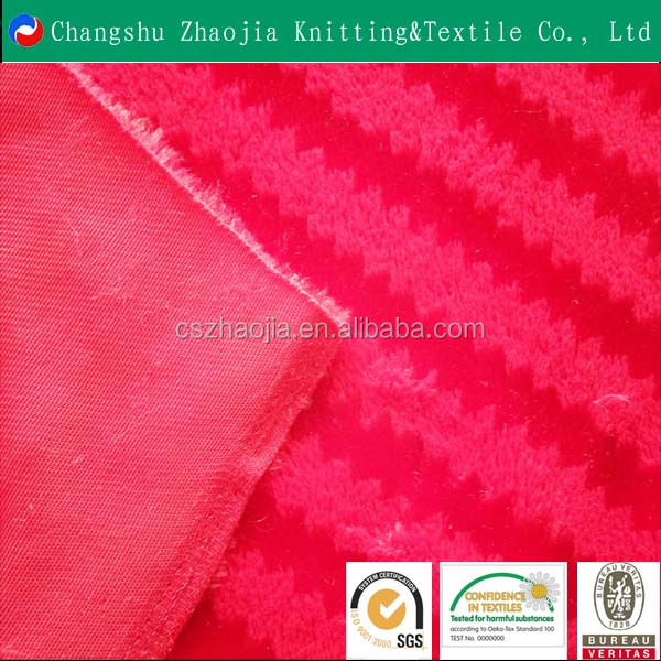 Chinese manufacturer hot sale PV jacquard super soft knitted garment fabric