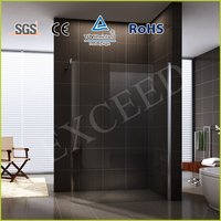 Curved glass walk in shower enclosure EX-603