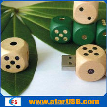 2014 new arrival hot dice design cube usb wood, wooden usb flash drive 2.0