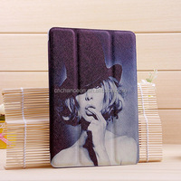 Universal Stand Leather Tablet PC Case Cover with Fashional Printing for ipad mini CO-LTC-306