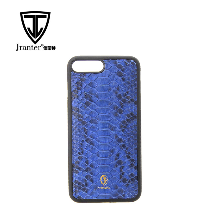 Genuine Python Snakeskin Leather Cell Phone Case for iPhone 7 plus for iphone 8 plus