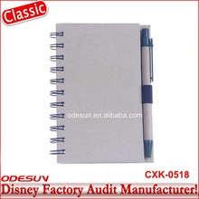Disney Universal NBCU FAMA BSCI GSV Carrefour Factory Audit Manufacturer Cute Cheap Flash Paper Memory Notebook