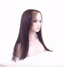Silky Stright full lace wig good bulk hair for wig making real human hair full lace sew in wig