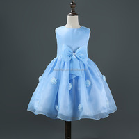 Hot Sales Popular Christmas Baby Girls Kids Flower Petals Party Wedding Prom Fancy Dress 2Colors