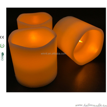 D7.5*H7.5cm pillar candle sets soft glow flickering wax candles