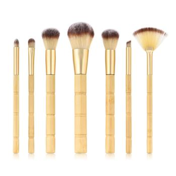 Hign Quality Portable Bamboo Handle Makeup Brush Set 7pcs Make Up Brushes