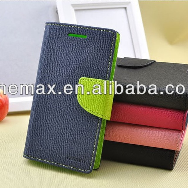 Korea Design Wallet Case With TPU Cover For iphone 4g 4s 5g 5c