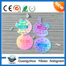 high-quality Custom 6.8.10mm round destructible calibration void stickers, warranty void if broken label, self-destroying