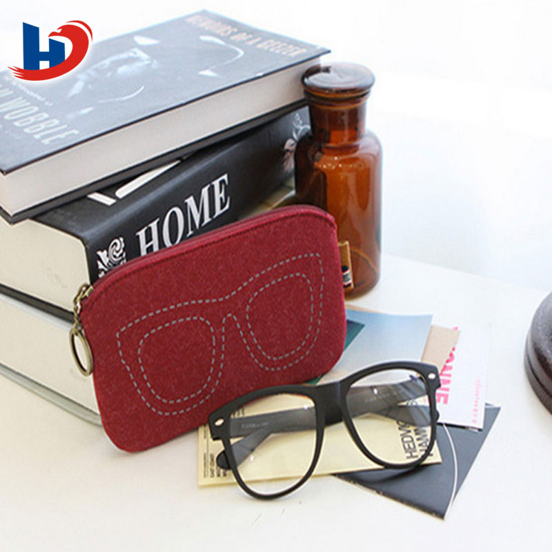 alibaba wholesale custom soft felt glass case fashion sunglasses bag
