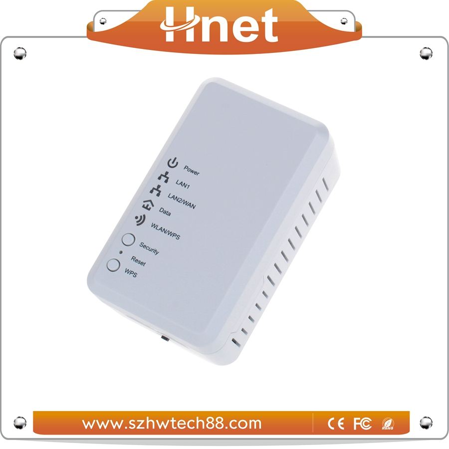 Best Selling Two Port wallmount homeplug mini 500M Powerline Ethernet