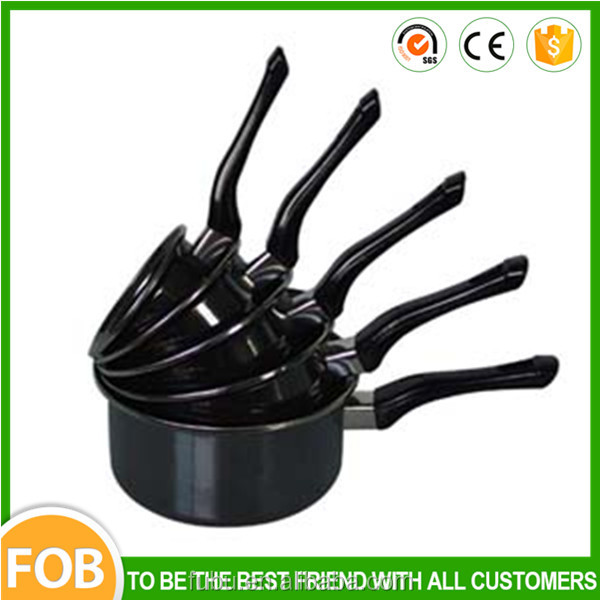 Black color 12/20cm Enamel Cookware