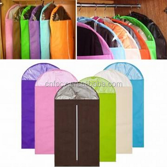 Good design Non Woven Suit Bag / Garment Bag Dress Cover / Clothes Shirt Travel Storage Bag
