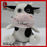 Promotion gifts cute farm animal soft toy small cow animal toy big eyes stuffed animal cow plush toy