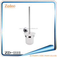 ZD-1111 Hot sales wall mounted galss toilet brush holder