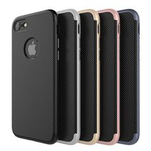 wholesale prevent damage carbon fiber cell phone case phone cover for iphone 6 7 8 x case