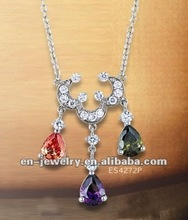 Hot selling silver Pendant with CZ stones