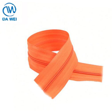 DAWEI brand High Quality Wholesale Prices 5# nylon zipper o/e with plastic insert pin lock slider