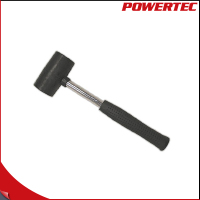 POWERTEC Steel Handle Two Face Rubber Hammer