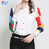 Yihao 2017 latest shirt design for women summer fashion elegant long sleeve blouse ladies formal office wear
