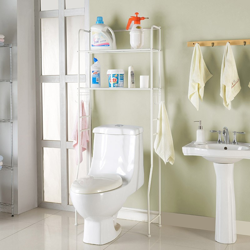 XM_402 Modern new metal stand Bathroom washing machine <strong>shelf</strong> over the toilet multifunctional furniture wire Storage Shelving