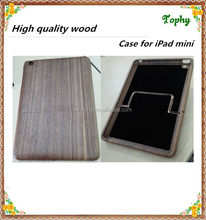 2 pieces timber wood case for ipad mini, Raw wooden case for ipad mini