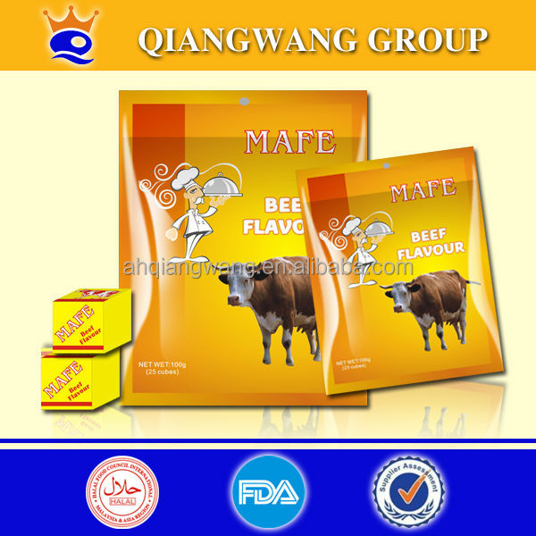 halal beef broth cube 4g health food beef spices cube