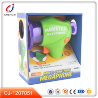 Hot sales musical education plastic kids toy megaphone