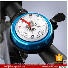 Hot Sale Bike bell ring color print water transfer ,customized color for outdoor mental finger bike bells with compass
