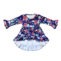 Infant Toddler Christmas Dress wholesale children's boutique clothing kids clothing christmas frock girl's dress
