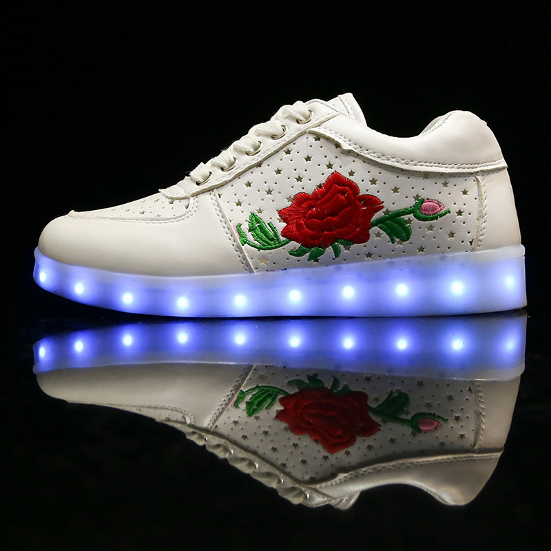 luminous led shoes light up hot sale shoes for party