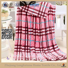 Low price high quality super soft offset printing blanket tartan design embroidery blankets