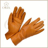 Wholesale Black Sheepskin Glove Wool Lined Leather Gloves Fashion Black Nappa Genuine Men Leather